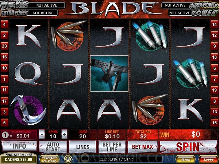 Review of Blade Online Video Slots Game